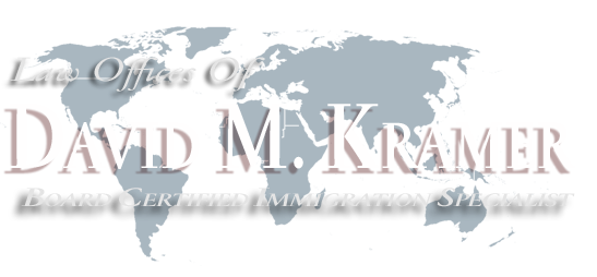 Immigration Lawyer David M. Kramer, Board Certified Immigration Specialist